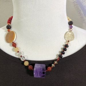 AD LOPEZ Mixed Stone Necklace